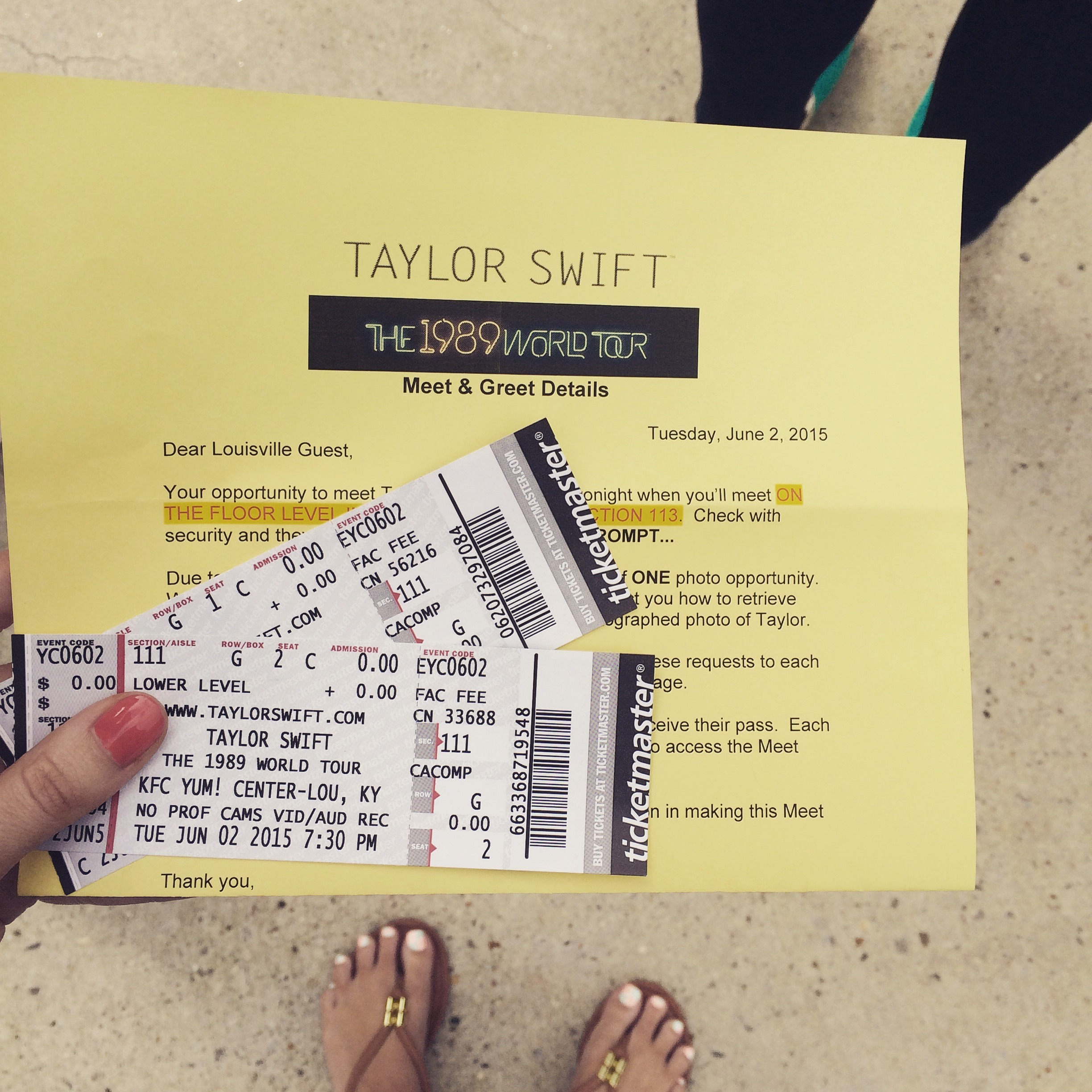 So i met taylor swift living the gray life taylor swift meet and greet kristyandbryce Images