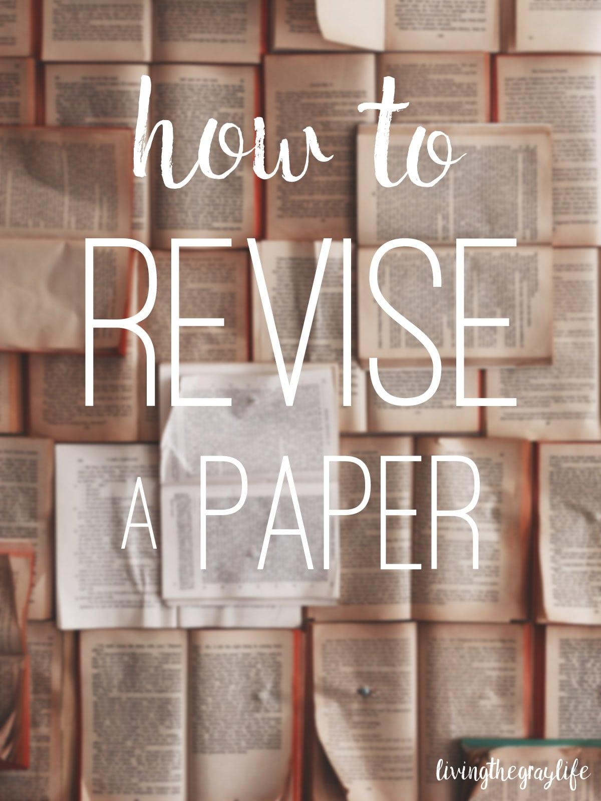 Revise essay