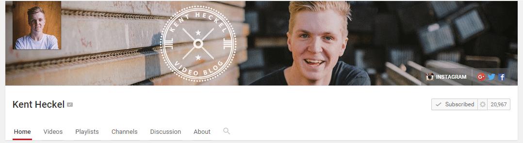 vlogmas vloggers to watch Kent Heckel