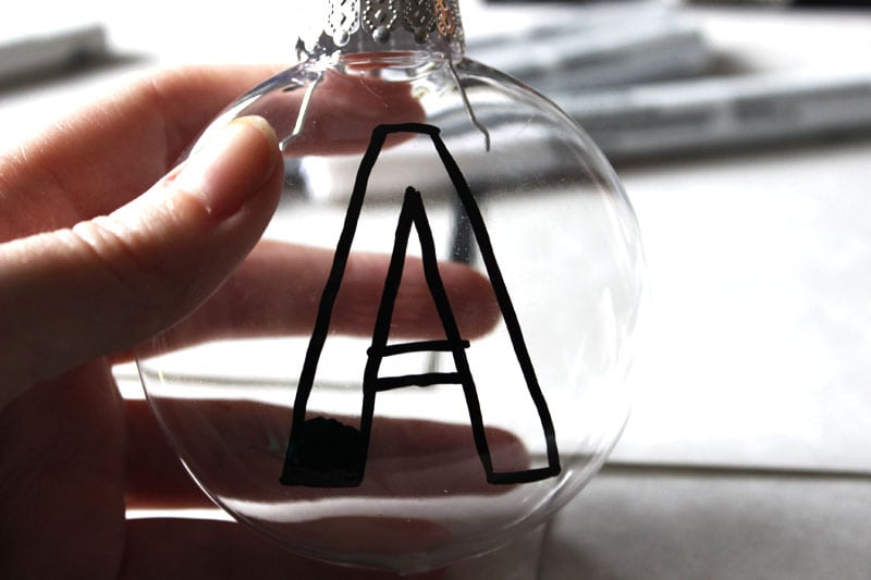 DIY christmas ornaments monogram