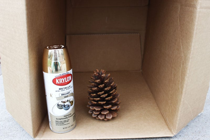 DIY christmas ornaments pinecone