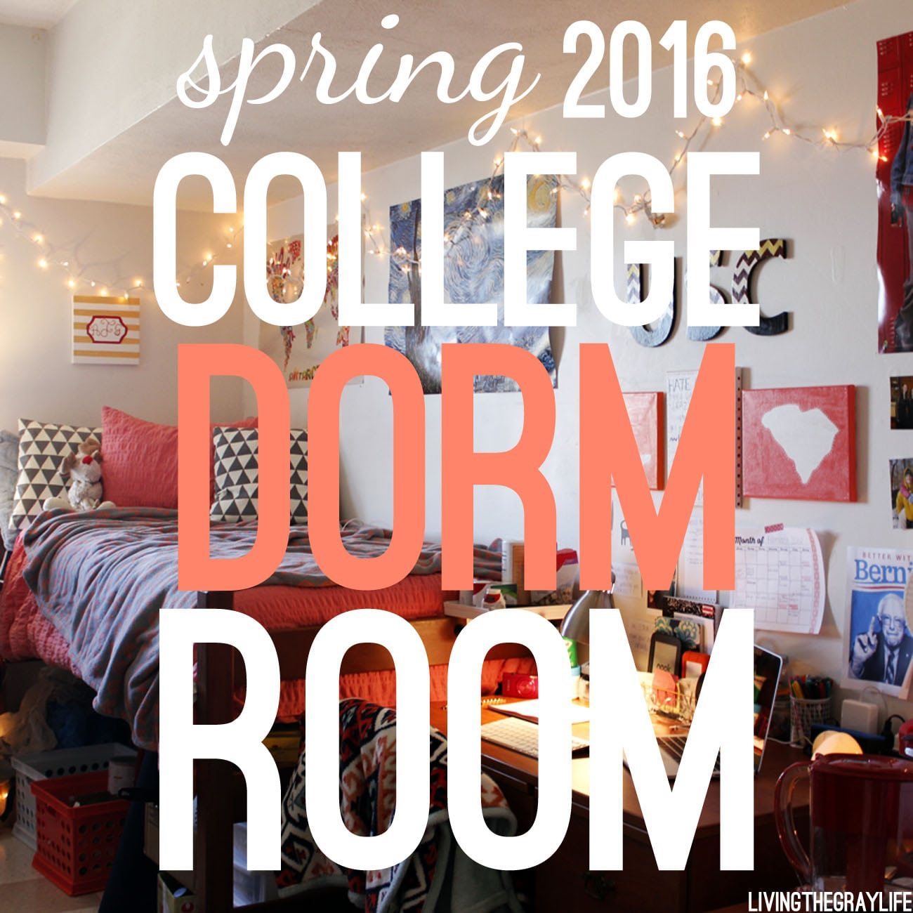 college dorm room tour