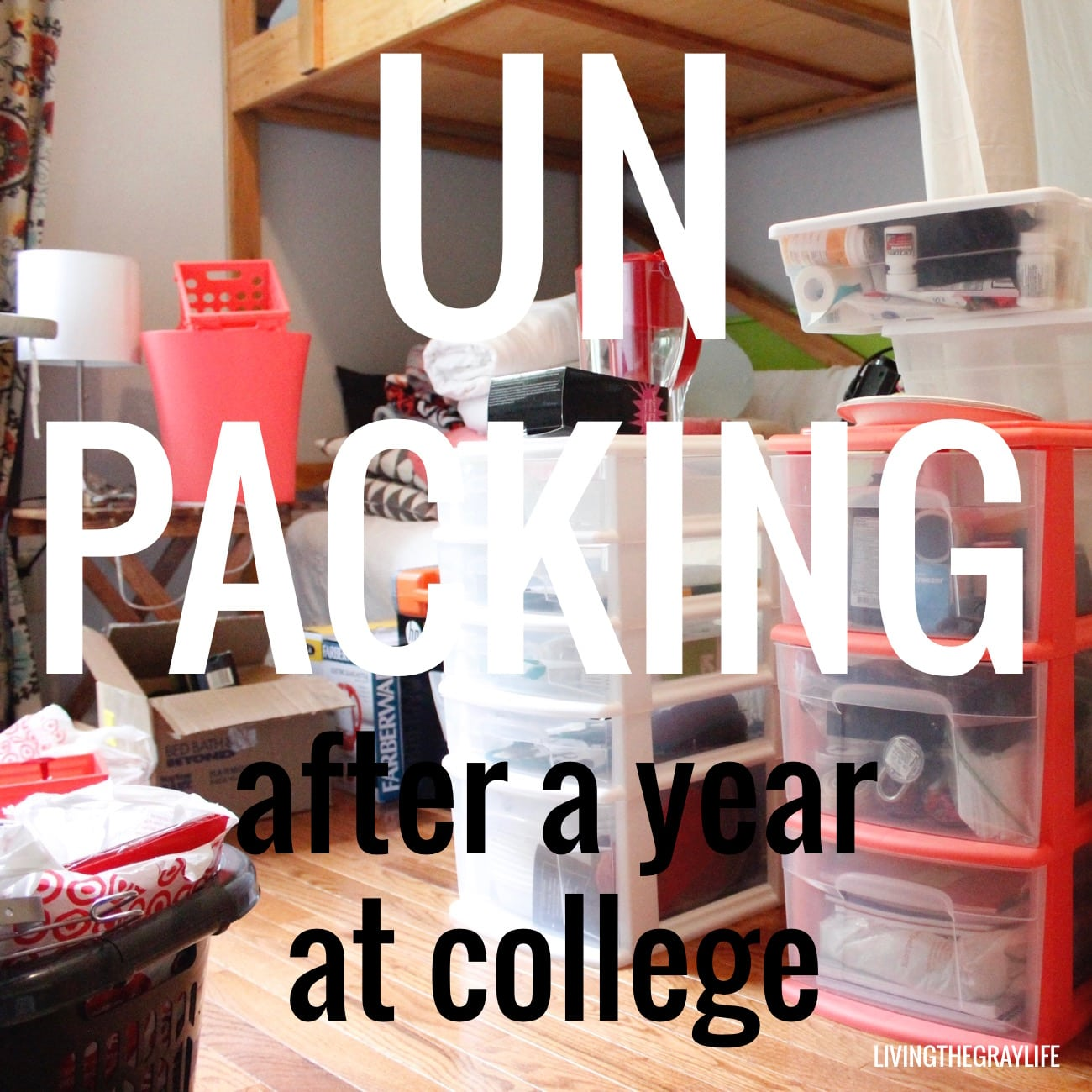 unpacking after college