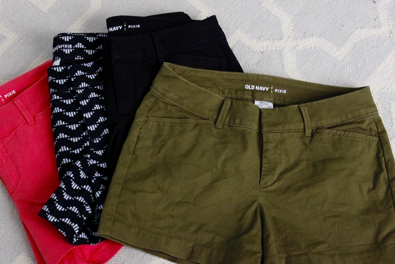 summer haul old navy pixie shorts