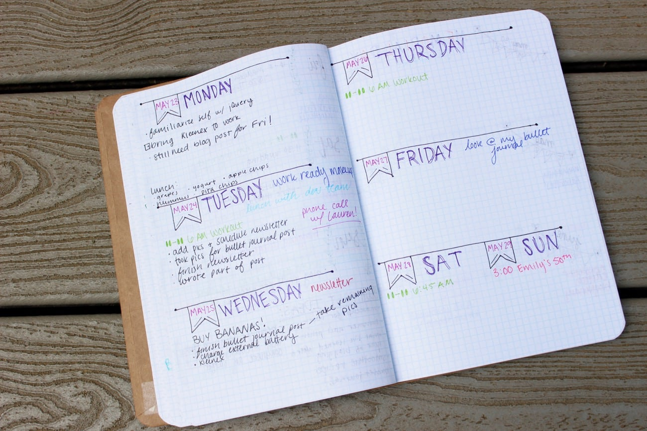 bullet journal for beginners a look inside