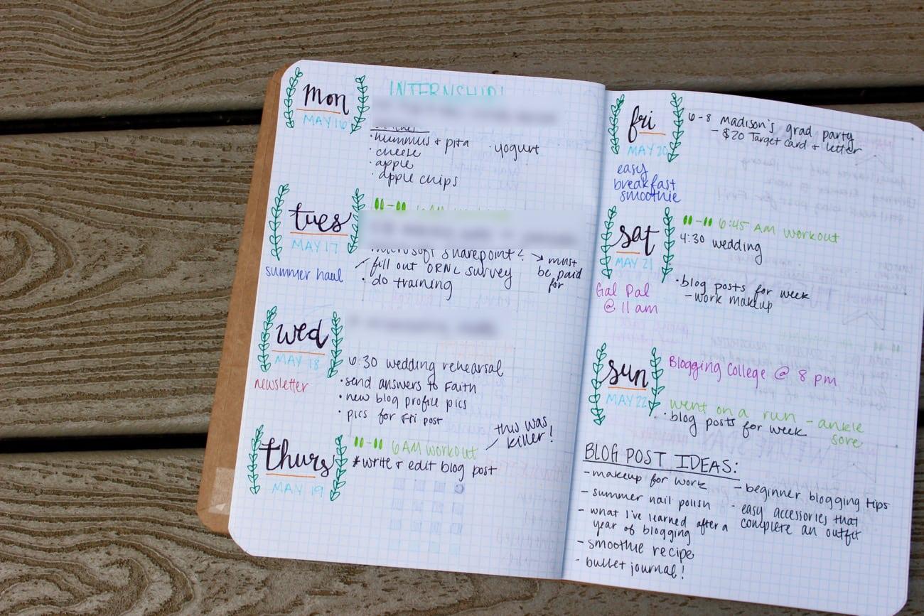 bullet journal for beginners a look inside