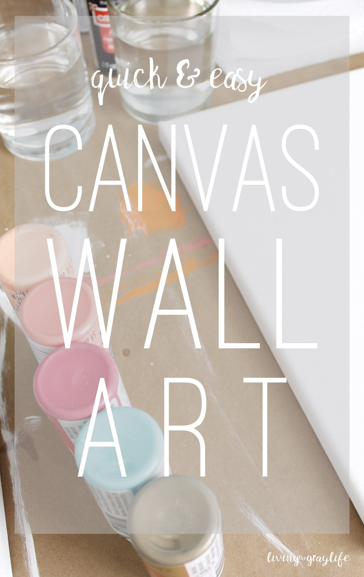 Looking For A Quick, Easy DIY To Do This Weekend? These DIY Canvases Are