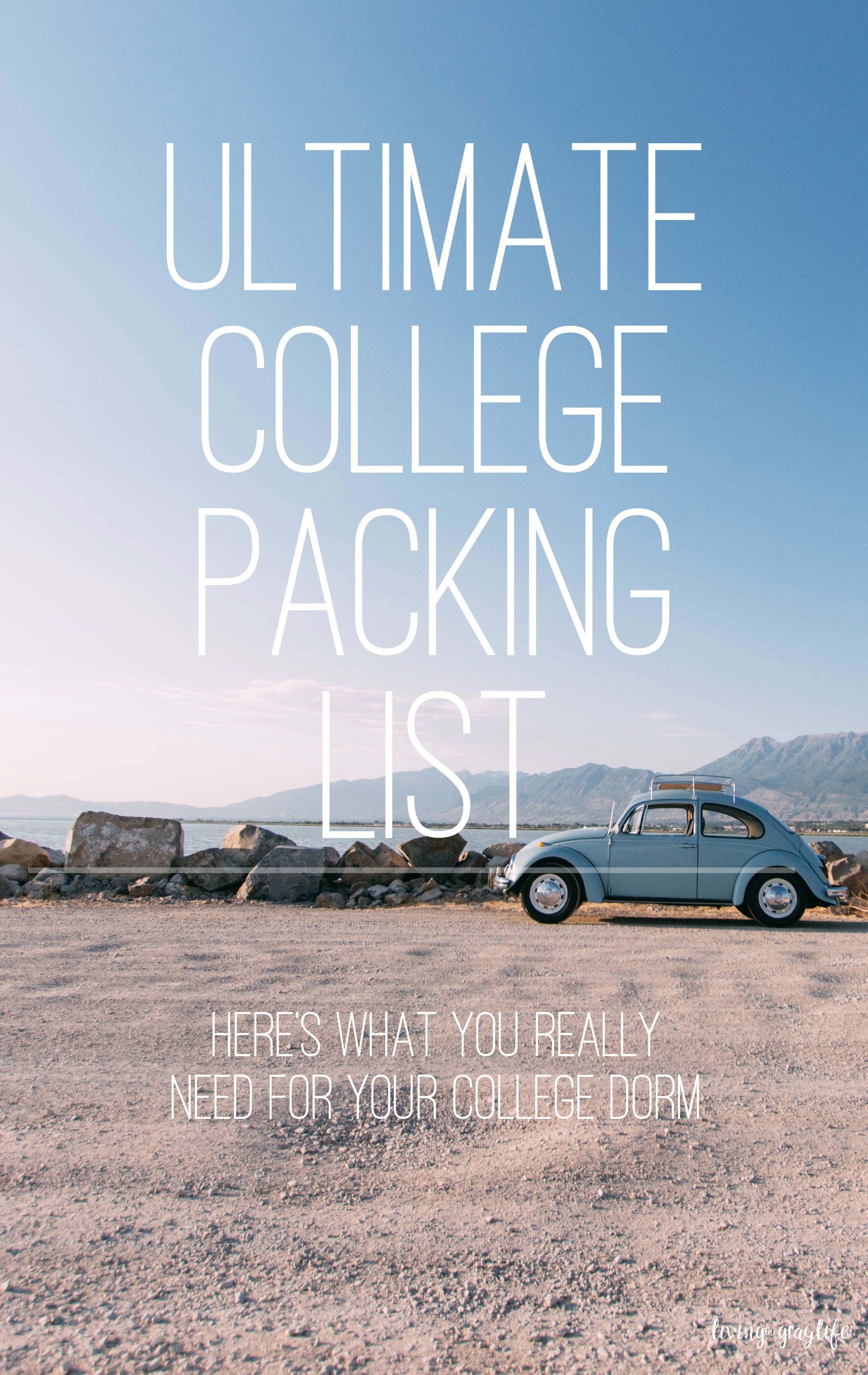 Here's what you actually need to pack for your college dorm! Ultimate college packing list.