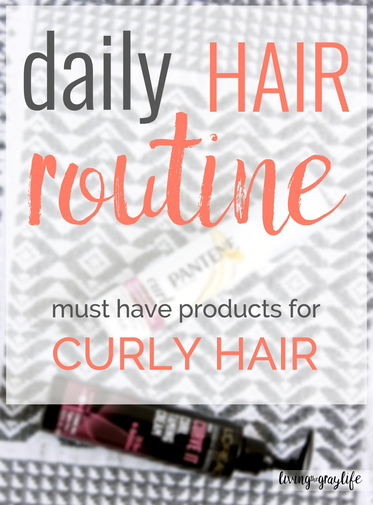Daily curly hair routine - products & techniques