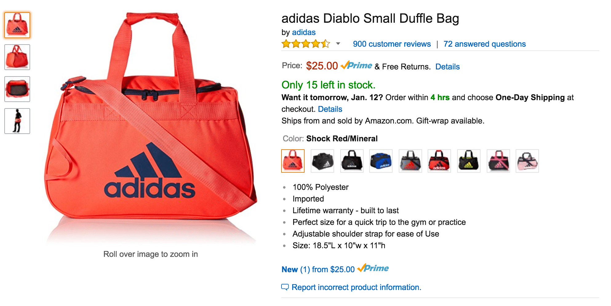 Create the perfect gym bag with Amazon Prime Student.