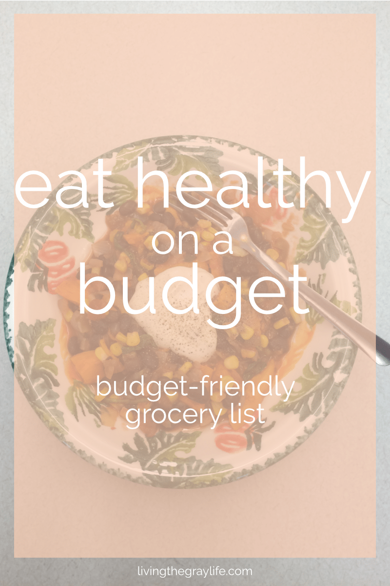 Looking to spice up your meals but still trying to remain healthy and under budget? Check out my go-to budget-friendly healthy grocery list! Perfect for college students or anyone on a budget.