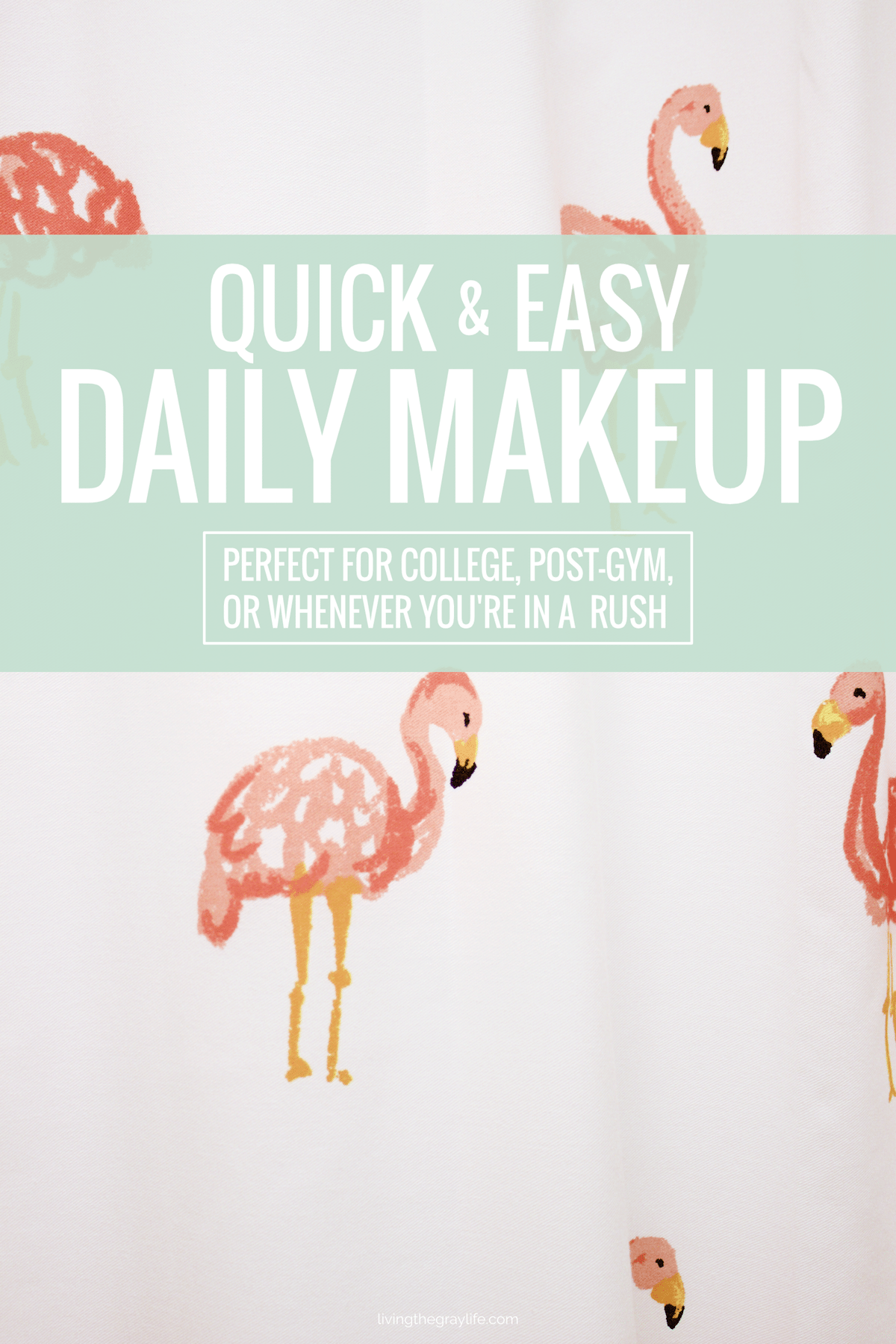Quick & easy daily makeup perfect for college students, post-gym routines, or if you're in a rush!